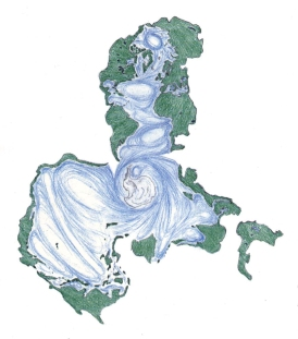 Ocean Earth map